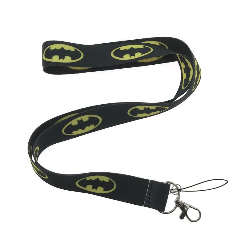 eupnhy batman superman logo 10pcs set neck keychain lanyard
