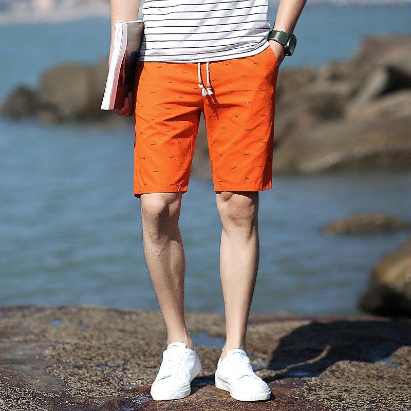 Casual Clothing Brend Pure Cotton Shorts Men Casual Beach Shorts Male Elastic Waits Shorts Mans Fashion Short Homme De Marque 02