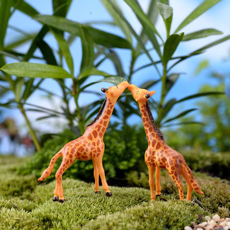6pcs Home Micro Landscape Decorations DIY Doll House Deer Giraffe Crafts Fairy Garden Miniatures Terrariums Succulents LH8s