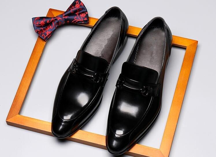2 Glissement D'affaires Bout Parti Mode Printemps Chaussures Mâle Été Cuir 1 Pointu 2018 De En Mariage Bal Sur Vache Formelle Boucles Homme 1AW1gZqwUx