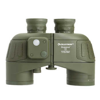 Celestron Oceana 7x50 Porro Binocular Compass positioning high-definition waterproof wide-angle wide-field coordinate (Olive)
