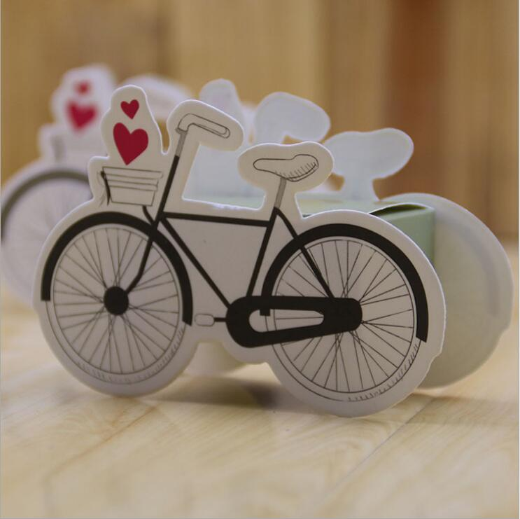 100pcs Bicycle Candy Box Baby Shower Wedding Party Favors Gifts Birthday Party Decorations Kids Chocolate Boxes for Guest
