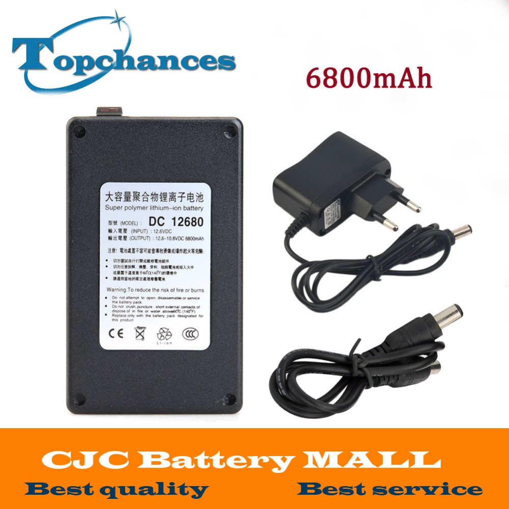 High Quality Newest DC12680 6800mAh 12V Super Rechargeable Li-ion <font><b>Battery</b></font> With Case For wireless transmitters <font><b>CCTV</b></font> camera