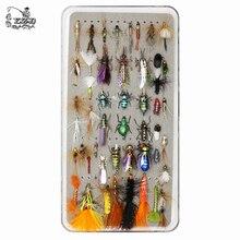 48pcs Premium ปลาเทราท์ Fly Fishing Flies Collection แห้งเปียก Flys Lures ชุด