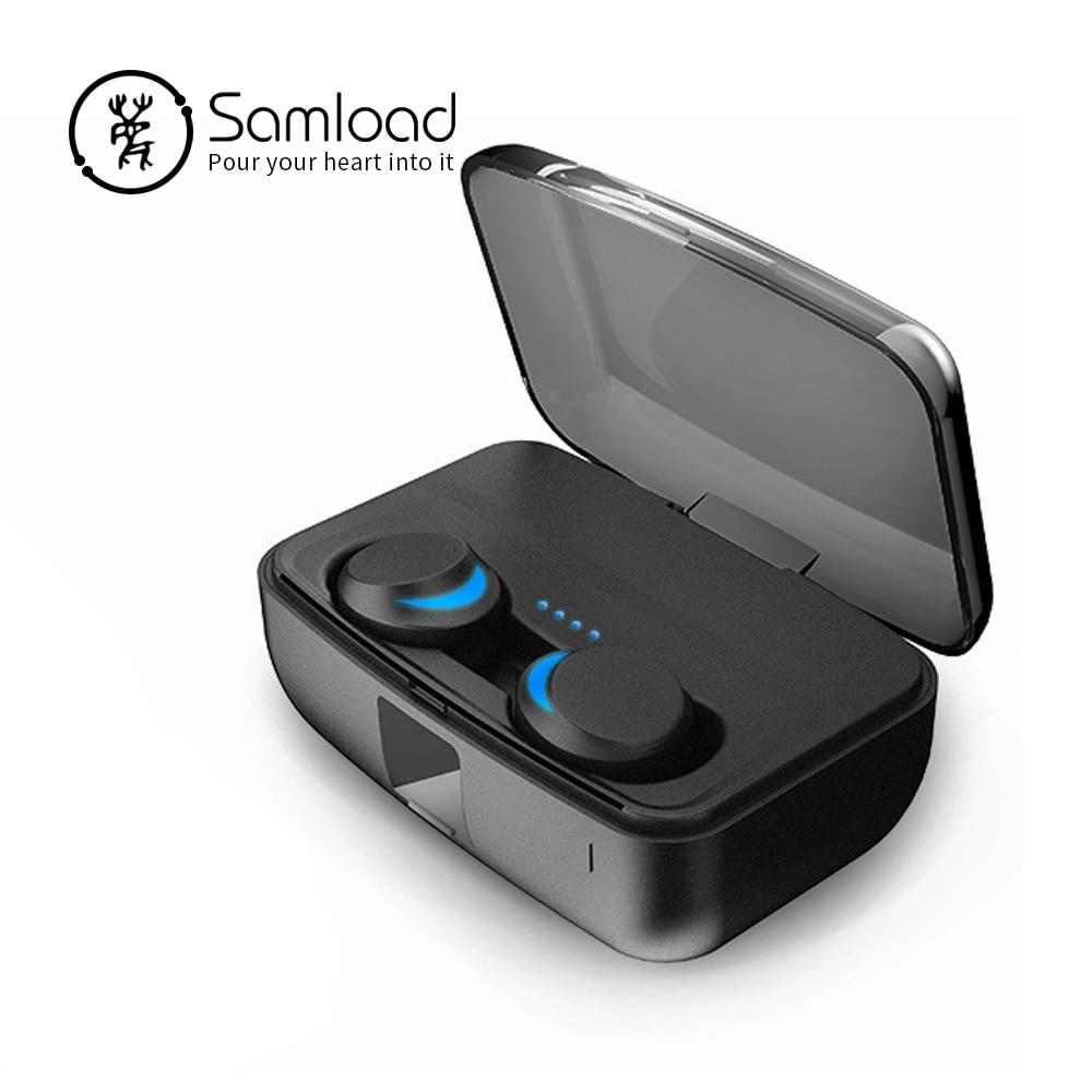 Samload Bluetooth 5.0 Casque Sans Fil écouteurs stéréo IPX7 Intégré 3000 batterie mah cas De Charge Pour IOS Android Téléphone Hommes