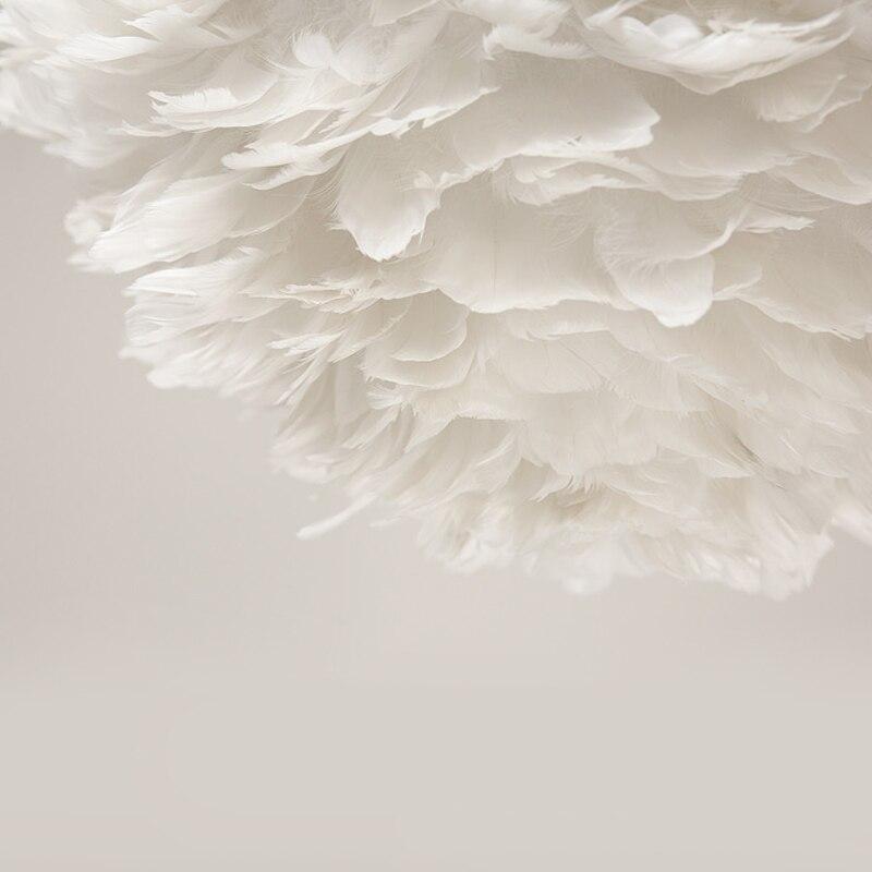 Modern Feather Pendant Light Contemporary Italian Design Goose Feather Hanging Pendant Lamp Fancy Home Lights Villa Restaurant (20)