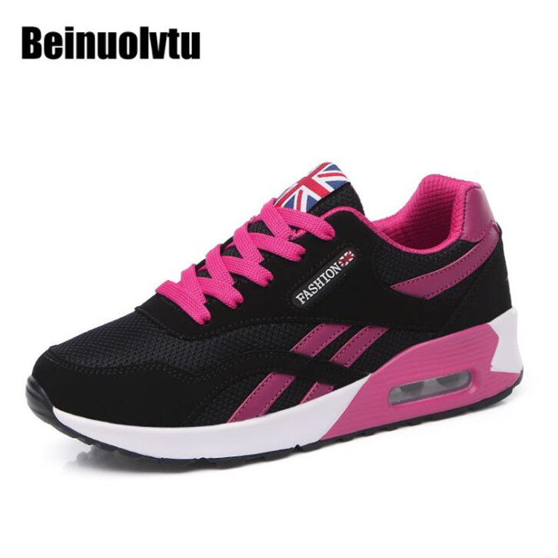 Women Sneakers Sport Running shoes Breathable Jogging Walking Tennis Trainers Air Cushion Sneakers for Girls Running shoes