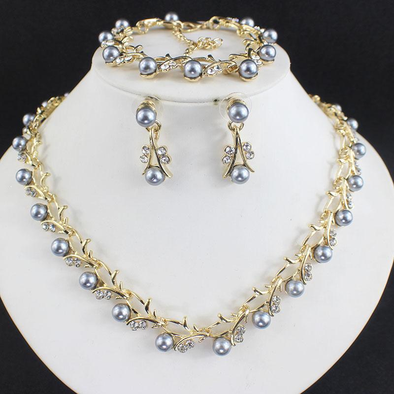 HTB1zx9WSFXXXXc0XXXXq6xXFXXXE Luxurious Pearl And Crystal Wedding Party Jewelry Set - 5 Colors