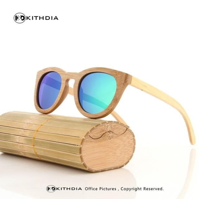 c47e96e08b KITHDIA Wood Sunglasses Men Brand Designer Polarized Driving bamboo  Sunglasses Wooden Glasses Frames Oculos De Sol Feminino