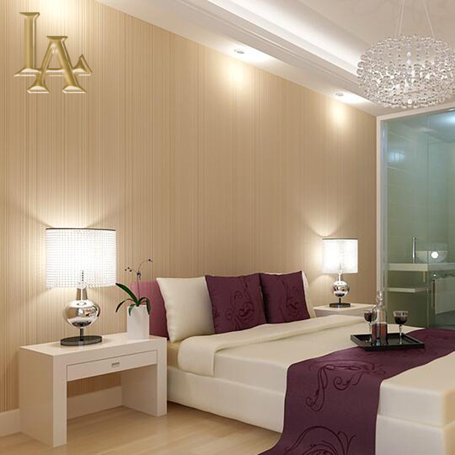 Mode Einfachen Braun Beige Gestreifte Tapete Für Wände 3 D Wohnzimmer Sofa  Hintergrund Moderne Streifen Wand