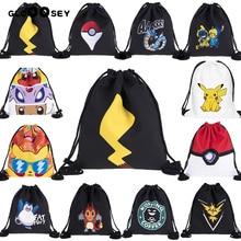 3D печать эльфа серии шаблон Путешествия Шнурок Карманный сумка с покемонами шнурок рюкзак Пикачу школьный ничья струнная сумка холст