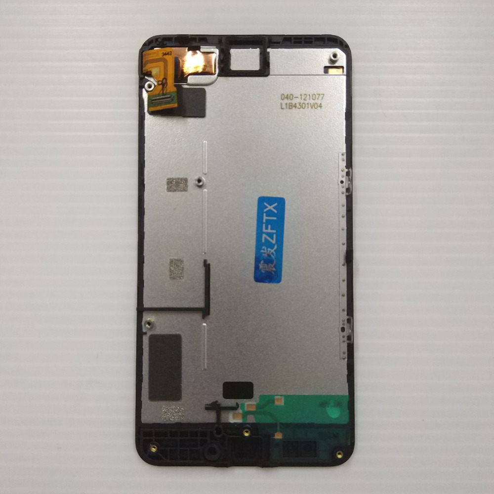 Black For Nokia Lumia 630 635 Full LCD Display Panel Screen Module + Touch Screen Digitizer Sensor Glass Assembly Frame