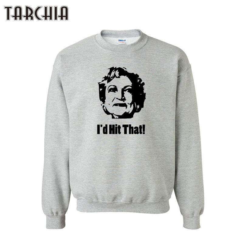TARCHIA Mens Sweatshirt ID HIT THAT Fashion Print Slim Fit Pullover Male Hoodies Men Casual Swearshirts Plus Size Mens Tops ...