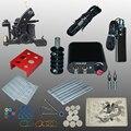 Completar kits de Tatuaje 8 bobinas de abrigo ametralladoras tatuaje negro máquina de alimentación aguja desechable envío libre
