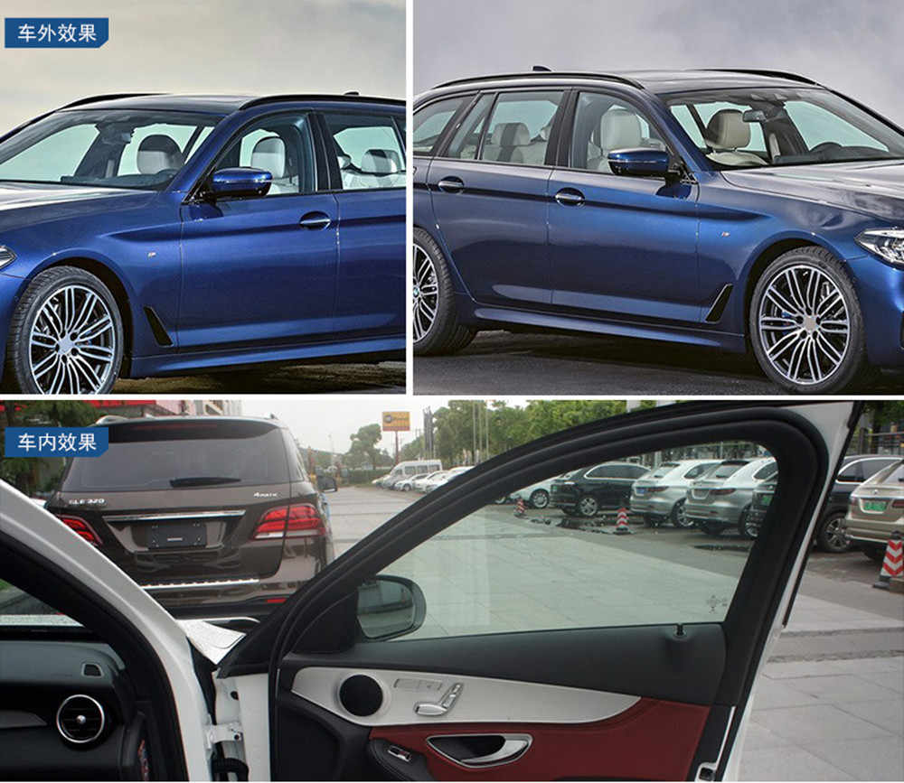 99% UV 70% VLT NANO เซรามิค SOLAR Tint ฟิล์มกระจกหน้าต่างอัตโนมัติความร้อนลดเสียงรบกวน Car หน้าต่างตกแต่ง 20 ''X 118.11''