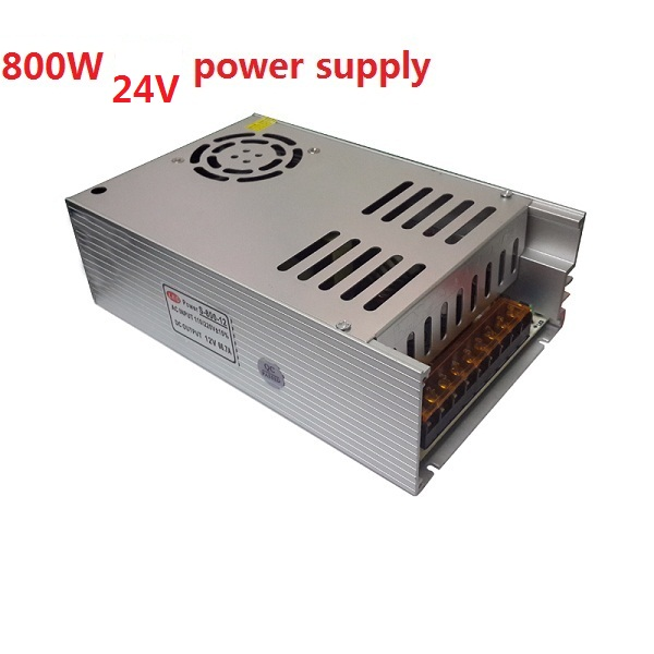 New Model ac-dc Power Supply 24V 33A 800W PSU AC DC Converter 220v 110V LED Driver DC24V Switching Power Supply For Led Light