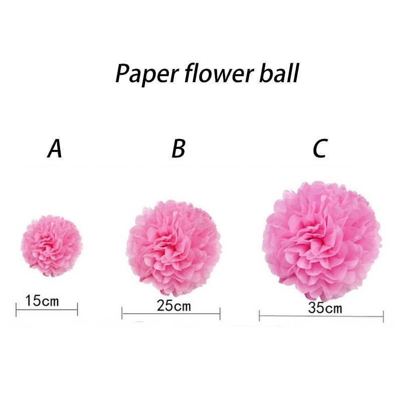 Tissue White Paper Pom Poms Bolas de Flores Decorações de Casamento Decorações Do Partido Adulto Do Bebê Chuveiro Deco Mariage pompons De Papel