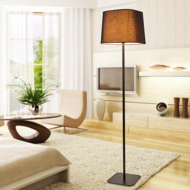 Aliexpress.com : Buy Simple Modern Floor Lamp Fashion Living Room Bedroom Light  Stand Black/White Fabric Lampshade Decor Home Lighting E27 110 240V From ...