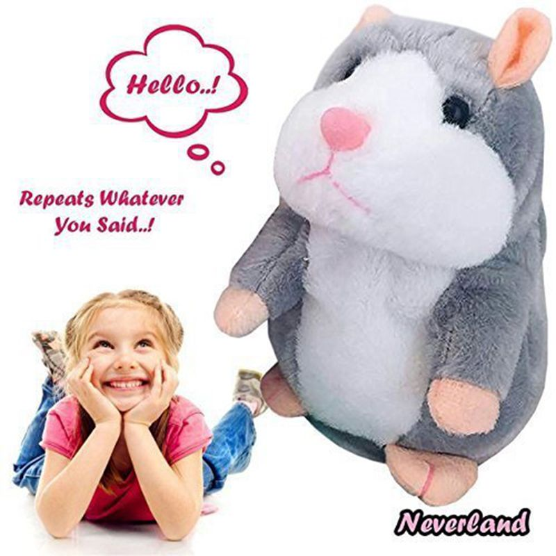 2019 Lovely Talking Little Hamster Toys For Children Speak Talking Sound Record Hamster Vibrating Nodded Mouse Toys Plush Toy