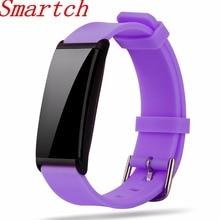 Smartch X9 Смарт Браслет сердечного ритма Приборы для измерения артериального давления Мониторы браслет IP67 0.96 «Экран Фитнес трекер Шагомер SmartBand