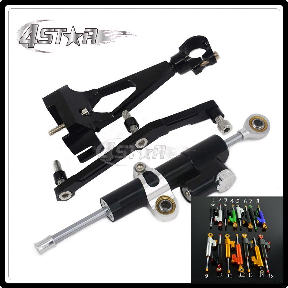 Motorcycle Steering Damper Stabilizer & Bracket For YAMAHA MT09 MT-09 MT 09 2013 2014 2015 2016 13 14 15 16 for yamaha mt 03 2015 2016 mt 25 2015 2016 mobile phone navigation bracket