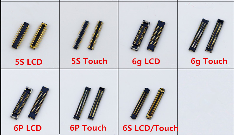 LCD Digitizer/Touch Screen Display FPC Connector for iPhone 5S 6 6Plus 6S 6SP 7 7P 8 8P on Motherboard Logic Board Mainboard image