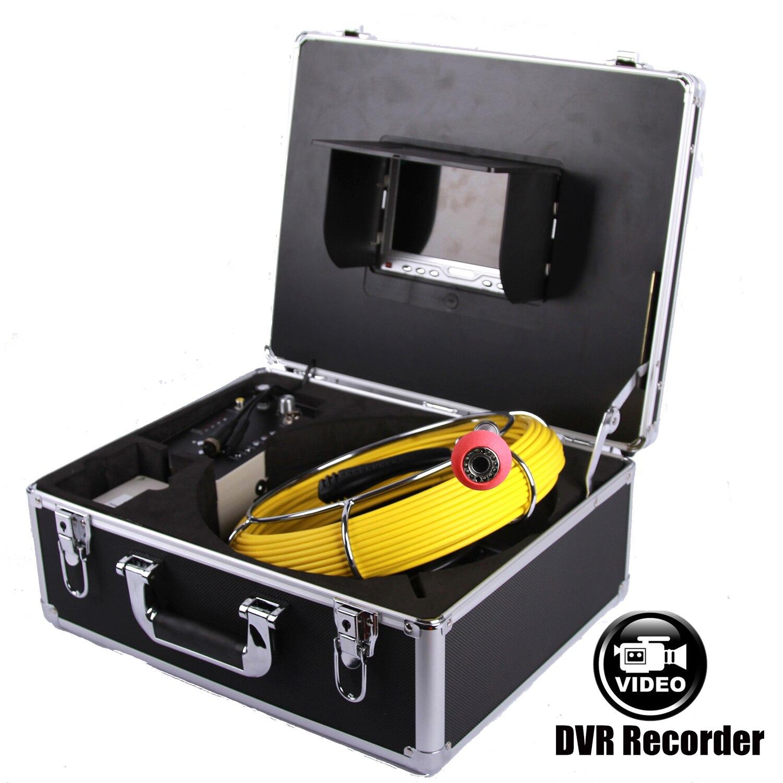7 TFT ЖК дисплей sony CCD 1000TVL 8IR эндоскоп для трубопроводов видеокамера канализационная труба Инспекционная камера DVR видео рекордер 8 Гб SD карта