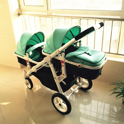 Twin baby strollers  baby car  Children can sit can lie high landscape cart Step to the car