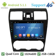 Quad Core 9″ 1024*600 2Din Android 5.1.1 Car DVD Video Player Radio Stereo BT FM DAB+ 3G/4G WIFI GPS Map For Forester 2014-2016