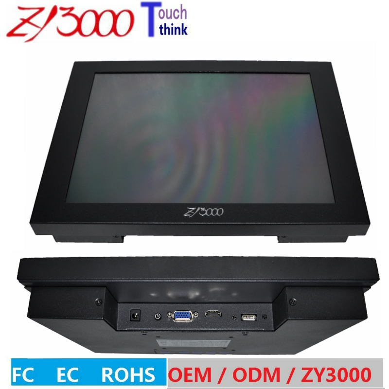 new stock 17 inch 4:3 1280*1024 lcd TFT metal casing open frame RS232 5 wire resistive touch screen Industrial monitor 19 inch 1280 1024 4 3 standard screen industrial medical pos machine security monitor lcd screen display with metal base