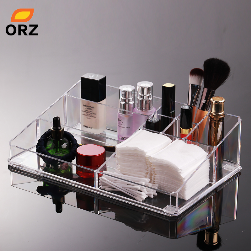 ORZ Acrylic Storage Box Desktop Cosmetic Organizer Case Makeup Cosmetic Lipstick Holder Container Jewelry Display Storage Bin
