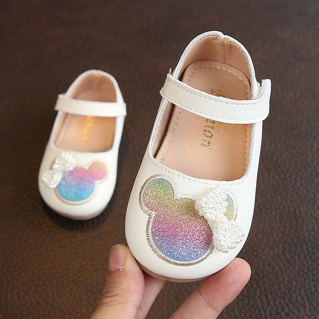 Princess Minnie Pearl Bbay Girls Leather Shoes Wedding Shoes For Infant  Baby Girls Girls Flats Children Shoes