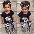 2017 новый летний девочка одежды 3 шт./упак. цветок Группа Футболка брюки детская одежда устанавливает девочка 3 шт. люкс