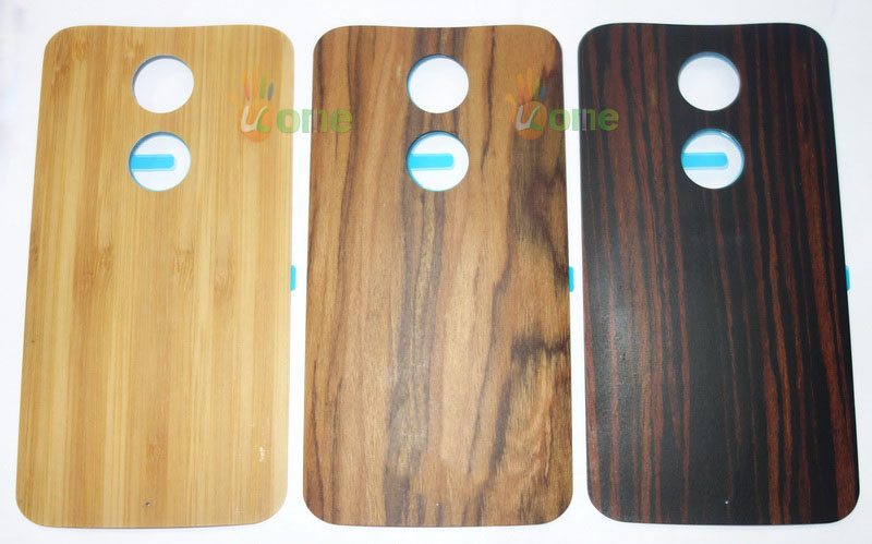 Original New Wood Wooden Bamboo Back Cover Lid Rear Battery Door Housing With Adhesive Glue For Motorola Moto X2 X 2014 XT1097