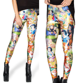 Princess Cartoon Adult Woman 3D Digital Printed Leggings 2