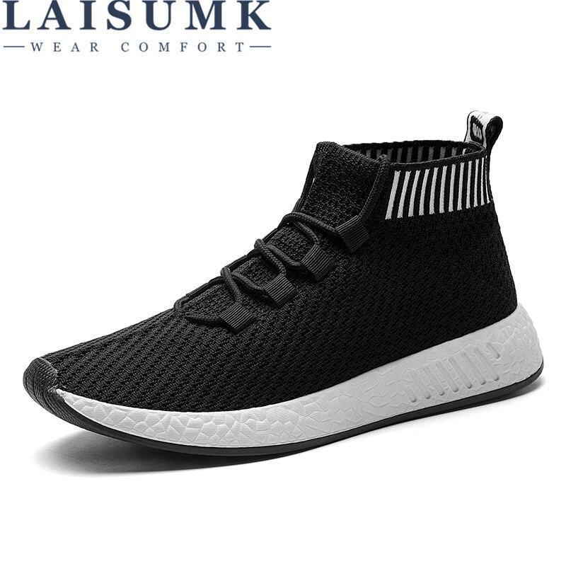 2017 LAISUMK Leisure Men  Autumn Spring Breathable Boy Sneakers Comfortable Cool Outdoor Shoes