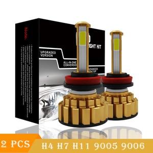 Image 1 - Светодиодный H7 H4 H8 H9 H11 9005 HB3 9006 HB4 светодиодный фар автомобиля света COB фишки яркие Автомобильная фара 8000LM 12 V 80 W 6000 K