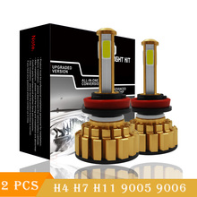 LED H7 H4 H8 H9 H11 9005 HB3 9006 HB4 LED Koplamp Auto Licht COB Chips Heldere Automobile Koplamp 8000LM 12 V 80 W 6000 K