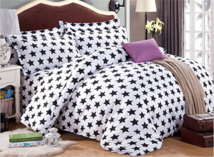 housse de couette print 4pcs king size bedding sets luxury include duvet coverbed sheet - King Size Bed Sheets