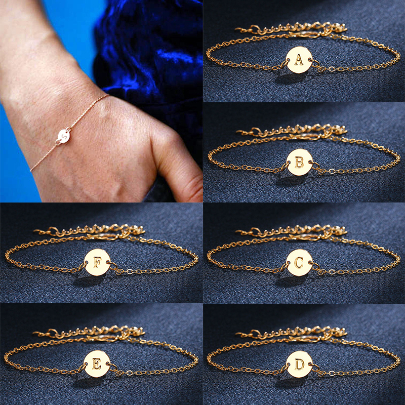 Dependable Fashion 1 Pc New Anklet Women Girl Golden Initial Bracelet A-z 26 Letters Adjustable Wristband Personality Simple Jewelry Gift