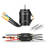 Original GoolRC 90A Brushless ESC and 3660 4300KV Motor with 36-S Water Cooling Jacket Combo for 800-1000mm RC Boat