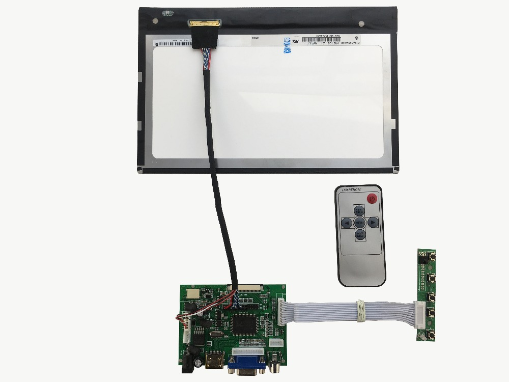 HDMI   LCD controller  board +IPS 10.1 inch LCD panel N101ICG-L21 1280*800+LVDS cable +OSD keypad +Remote control hdmi vga 2av lcd controller board work for 7inch hsd070pww1 ips lcd panel