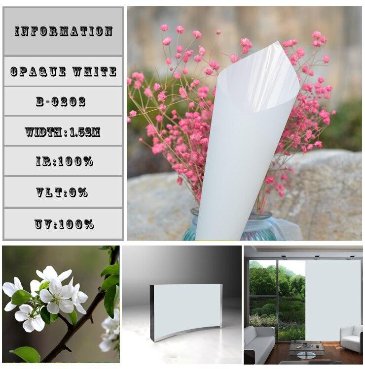110cm x 1110cm 43 x437 White Solar Tint Film 100 Heat Insulation 100 UV Proof Self