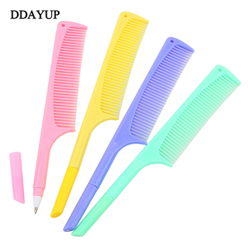 4Pcs/lot Cute Creative Comb Pen Ballpoint Stationery Plastic Funny Kawaii Students Office School Supplies