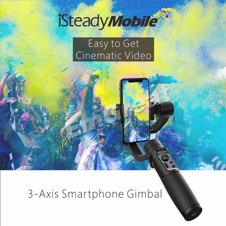 Hohem iSteady Mobile + Plus 3 Axes Poche Smartphone Stabilisateur de Cardan pour iPhone XS Max XR X 8plus 8 7 Android Huawei Samsung-in Cardan à tenir à la main from Electronique    2