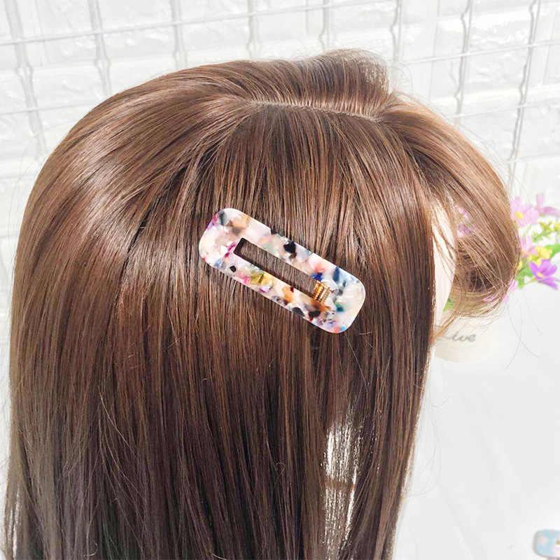 الاختيار 1 قطعة أزياء سيدة الخليك حمض دبابيس الشعر ليوبارد طباعة Waterdrop المشابك Hairgrips إكسسوارات الشعر