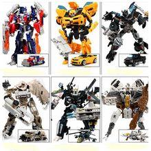 Caliente transformación 4 Bumblebee Megatron coches Brinquedos Robots figuras de acción juguetes clásicos para niños juguetes para los regalos juguetes