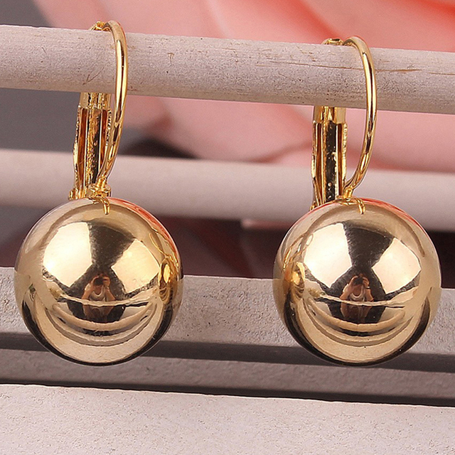 2018 Fashion Drop Earring Ball for Women Dangle Luxury Design Gold-color Trendy