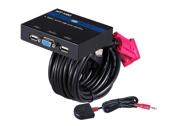 Besorgt 4 Port Auto Usb Kvm Schalter Taste/hotkey/desktop Controller 2048*1536 1080 P 250 Mhz Stahl Mt-481kl Einen Effekt In Richtung Klare Sicht Erzeugen