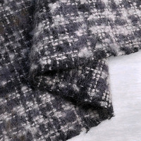 Limited Italian imports Morandi color tweed alpaca fabric for coat tissu tecidos tissus au metre tela seda shabby chic tecido